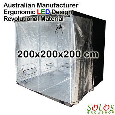 Grow Tent 1.2x0.6x1.8m for Hydroponic LED Setup Indoor Greenhouse Box Hangers