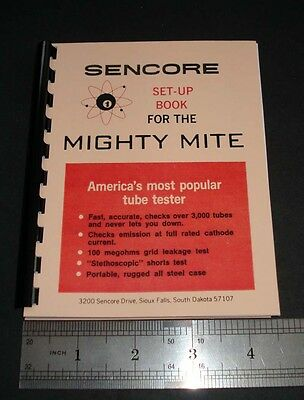 Sencore Set-Up Book Tube Data TC114 TC 130 TC136 TC142 TC154 Small Booklet