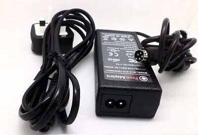 12v DMTECH LQ17XV dmtech TV 4 pin Uk mains power supply adaptor cable