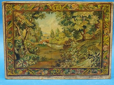 SPLENDID SIGNED 1957 SCALE MAQUETTE TAPISRIE MURAL PAINTING  by A. TURIN