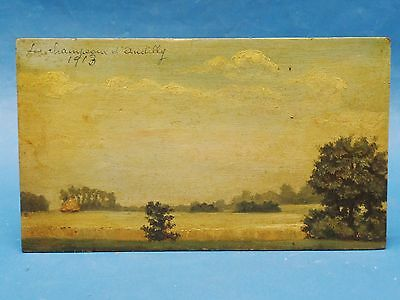 Double Sided Signed 1906/13 Tonalist Normandy France Landscape Painting A. Turin