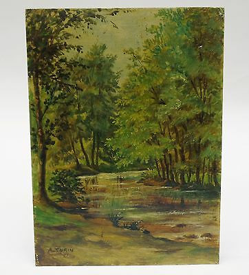 SPELNDID SIGNED 1951 ARDENTES FRANCE LANDSCAPE PAINTING by A. TURIN