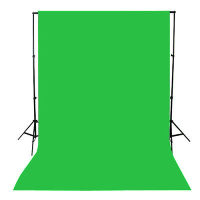 PIXAPRO HeavyDuty 3M TELESCOPIC Background Stand + Muslin Green Screen BackDrop