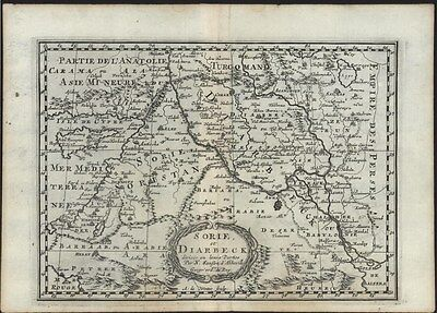 Middle East Iraq Sorie Cyprus Turkey Diarbeck 1699 Sanson scarce antique map