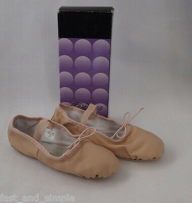 Dance Class Child's Ballet Pink Leather Shoe Sz. 4 in Pink Model #B401