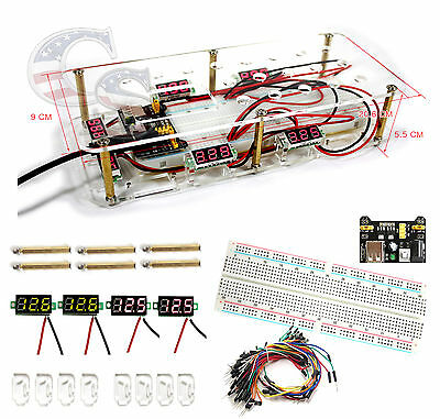 #1 MB-102 Prototype Breadboard 65pcs Jump Cable Wires, Power Supply & ShowCase