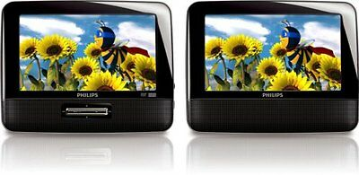 Philips PD7012/37 7-Inch LCD Dual Screen Portable DVD Player  Black (Discontinue