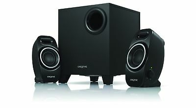 Creative A250 2.1 PC Desktop Speaker System With Sub Woofer Black Solid Bass New