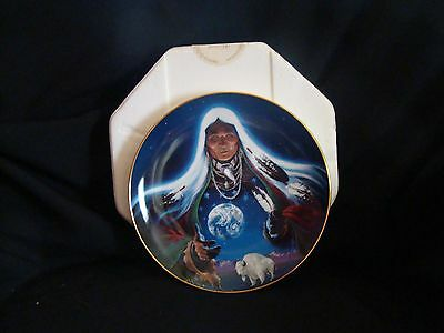"""Royal Doulton's Western Heritage Museum """"Dream Weaver"""" Collector's Plate & Box"""