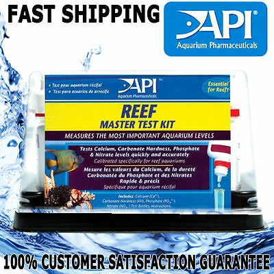 API Aquarium Fish Tank Master Reef Marine Test Kit Calcium KH Phosphate Nitrate