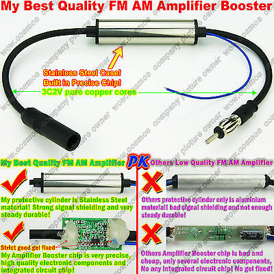 FM AM Signal Amp Amplifier Booster TO Car ANT Antenna Radio Stereo DVD player af