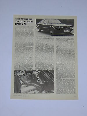 BMW 320 (6 cylinder) Road Test from 1978 - Original