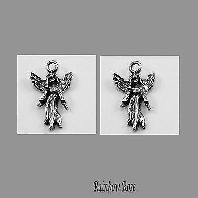 PEWTER CHARM #2014 SMALL ANGEL 24mm x 2 ANGELS