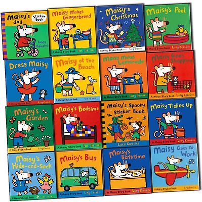 Maisy's Story and Sticker 16 Books Library Collection Pack Set By Lucy Cousins