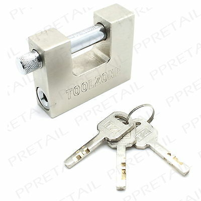 HEAVY DUTY STEEL SHUTTER PADLOCK Large High Security Container/Garage/Shed Lock