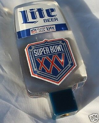 "*RARE* LITE BEER ""SUPER BOWL XXV"" TAP HANDLE/KNOB! Tampa 1991 Giants-Bills #25"