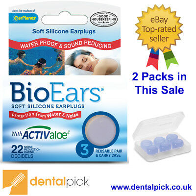 Noisy Neighbours Silicone Ear Plugs 3 Pack with case X 2 Packs