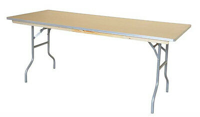 "16 Wood 30""X72"" Folding Tables 6' Long Meeting Commercial Table Free Shipping"