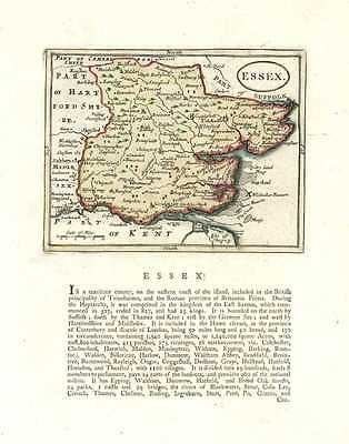Essex Antique Map by Seller, after cartographer John Speed. Francis Grose c1787