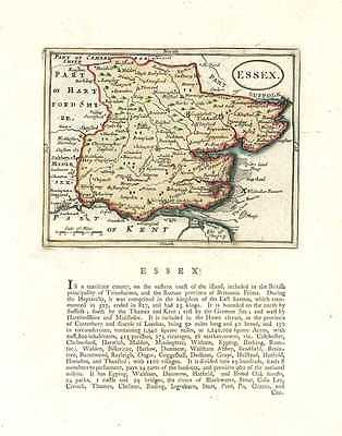Essex County antique map by Seller after Speed. c1787