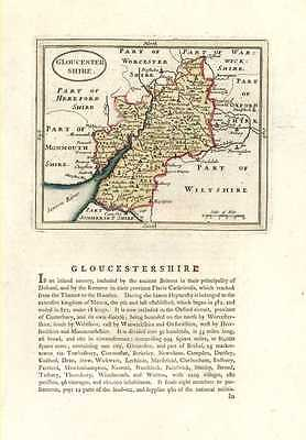 Gloucestershire  Antique Map by Seller after John Speed.  Francis Grose c1787