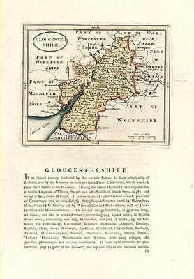 Gloucestershire antique map & history by Francis Grose c1787.