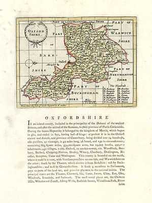 Oxfordshire Antique Map by John Seller after John Speed. Francis Grose c1787