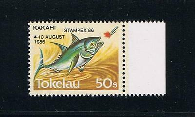 Tokelau #110 Fish Definitive with 1986 Stampex Overprint - Scarce Stamp