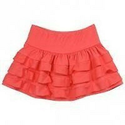 Lili Gaufrette coral frill skirt age 8