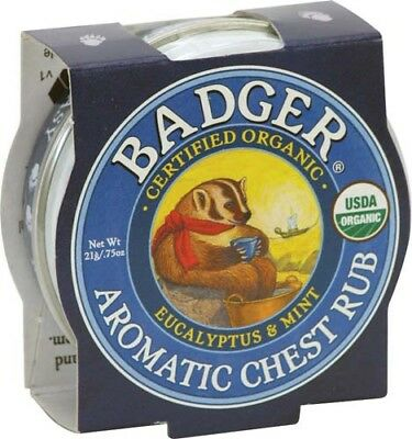 Badger Balm Aromatic Chest Rub 21g. *FREE P&P*
