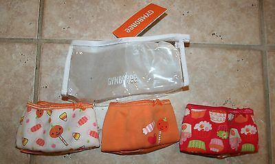 NWT Gymboree Girls M 7/8 Halloween Cupcakes Pumpkin Candy 3 Pair Panty Underwear