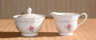 MS 109 Royal Swirl China Creamer & Covered Sugar Fine China of Japan