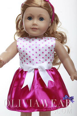 American girl doll clothes handmade dress Collection #50 Fits 18 inch Dolls