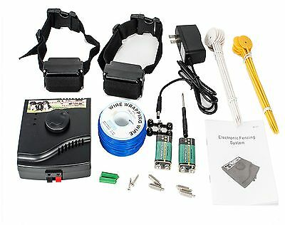 New Underground Waterproof 2 Shock Collar Electric Dog Fence Fencing System