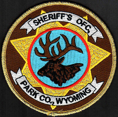 Park County Wyoming Sheriff Patch OFC. Gold Thread Color Vr.