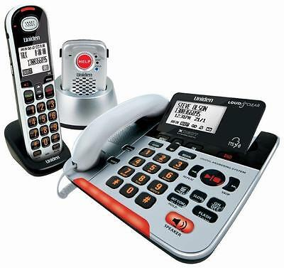 Uniden Sse37+1P  Visually Impaired Phone System  Pendant+Cordless+Corded Kit