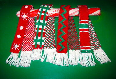 Cozy Winter Christmas Holiday Scarf Set of 4 Scarves fit Elf Barbie Monster High