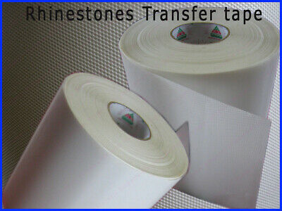 HEAVY Iron on Diamante Rhinestone Hotfix Transfer Mylar Paper Tape SOLD BY METER