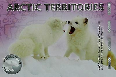 ARCTIC FOX COLLECTIBLE 1 Polar Dollar 2012 Arctic Territory Fantasy Banknote