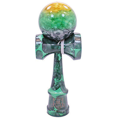 Full Green Camo Marble Kendama And Extra String