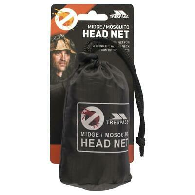 Trespass Midge Mosquito Head Face Travel Net Protection One Size Free Post £4.99