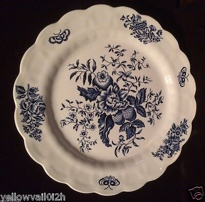 BOOTHS Dinner Plate 10 1/4'' Blue White PEONY~ Made in England. A 8021