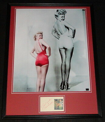 Betty Grable Signed Framed 18x24 Photo Poster Display