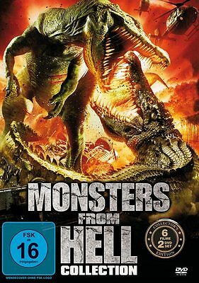 Monsters From Hell Collection - 6 Filme auf 2 DVDs Neu OVP Monster Filme Horror