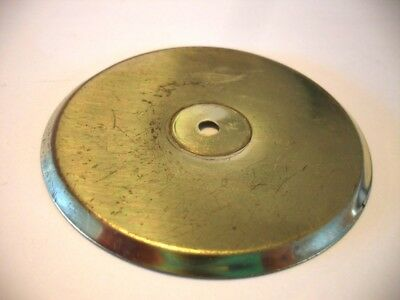 "Vintage BRASS Plated Round Knob BACKPLATES 2-3/4"" Diameter Wrought Steel • CAD $4.41"
