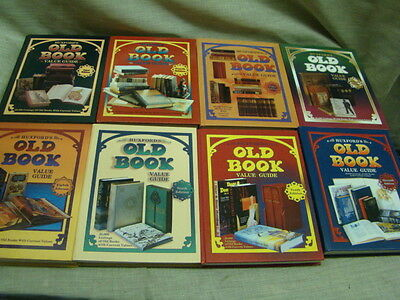 Set Of 8 Huxfords Old Book Value Guide Hardcover 25,000 Listings Of Old Books