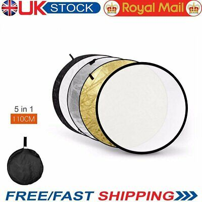 """UK Godox 5 in 1 110cm 43"""" Light Diffuser Round Reflector Disc + Carrying Bag"""