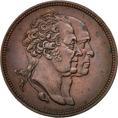 [#68925] Great Britain, Business & industry, Medal, AU(55-58), Copper, 38, 28.30