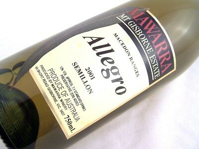 2001 MAWARRA WINERY Allegro Semillon Isle of Wine