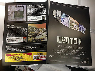 Led Zeppelin Japan IV Houses of the Holy DVD cool promo flyer Stairway to Heaven